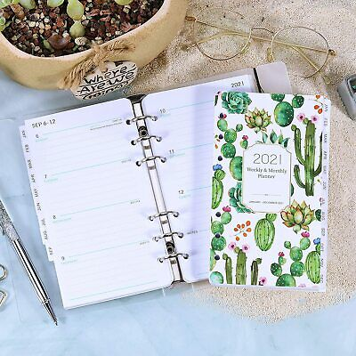 2021 Weekly Monthly Planner Refill A6 Planner Inserts W Eye-catching Cover