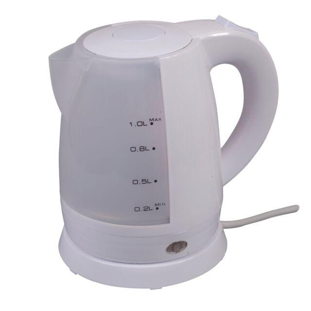 low wattage 1ltr mini electric cordless travel kettle camping caravan bubble - Bubble Jug