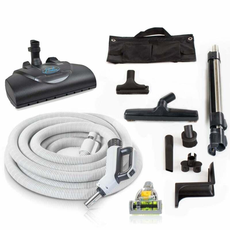 Premium 35 ft Universal Central Vacuum Hose Kit w/ Wessel