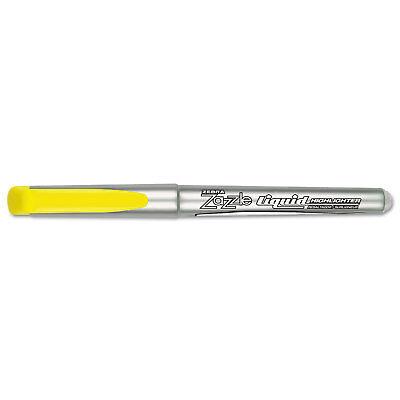Zebra Zazzle Liquid Ink Highlighters Chisel Tip Yellow Dozen 77050