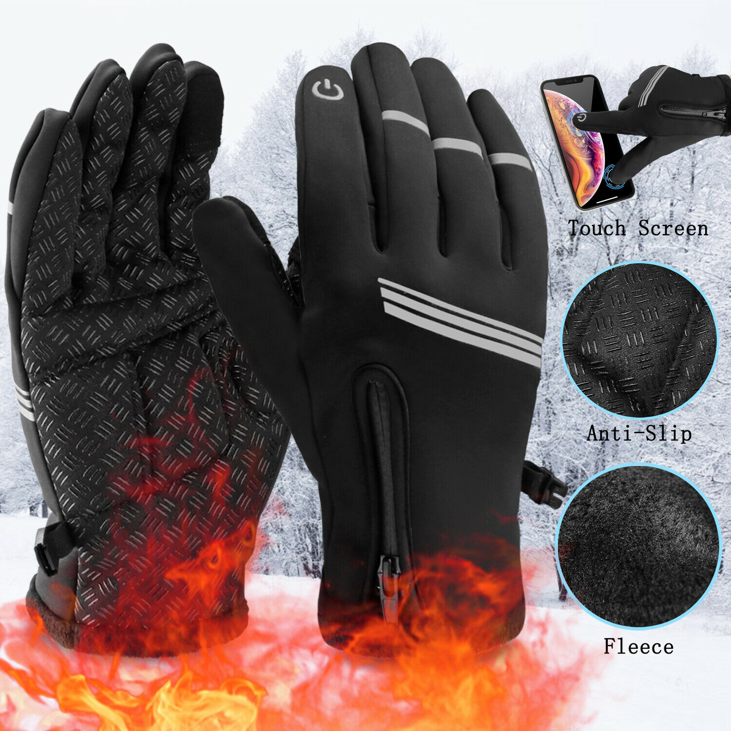 New Winter Fleece GLOVES Everyday Driving Evening Mens Womens Ladies Warm Gloves