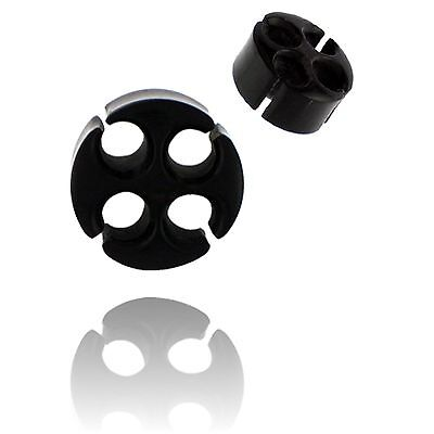 - PAIR CARVED BUFFALO HORN 0g 8MM PLUGS TUNNELS PLUG