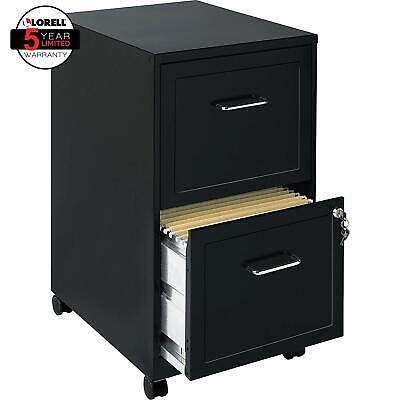 File Cabinet Black 2 Drawer Mobile Locking Hanging File Folders