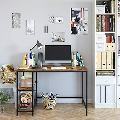 Computer Desk with 2 Shelves, 47 in Length Study Writing Table, Adjustable feet Furniture