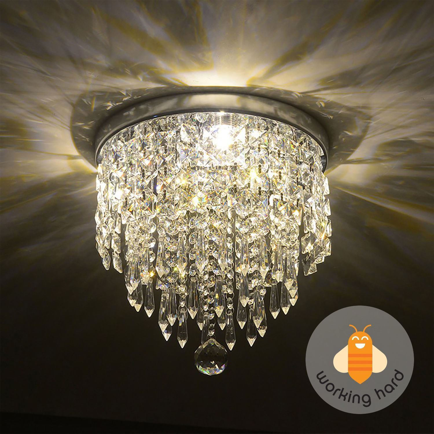 PENDANT CEILING LAMP Crystal Ball Fixture Light Chandelier