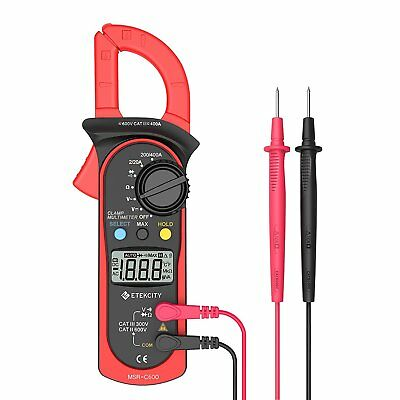 Etekcity Msr-c600 Digital Clamp Meter Auto-ranging Multimeter Acdc Voltmeter