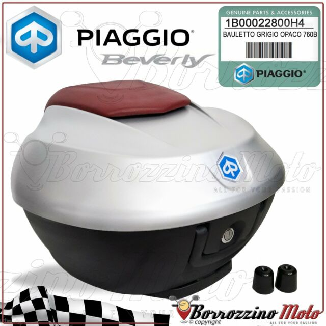 1B00022800H4 TOP-BOX MATT GREY 760B GENUINE OEM PIAGGIO BEVERLY IE 350 2011-2016