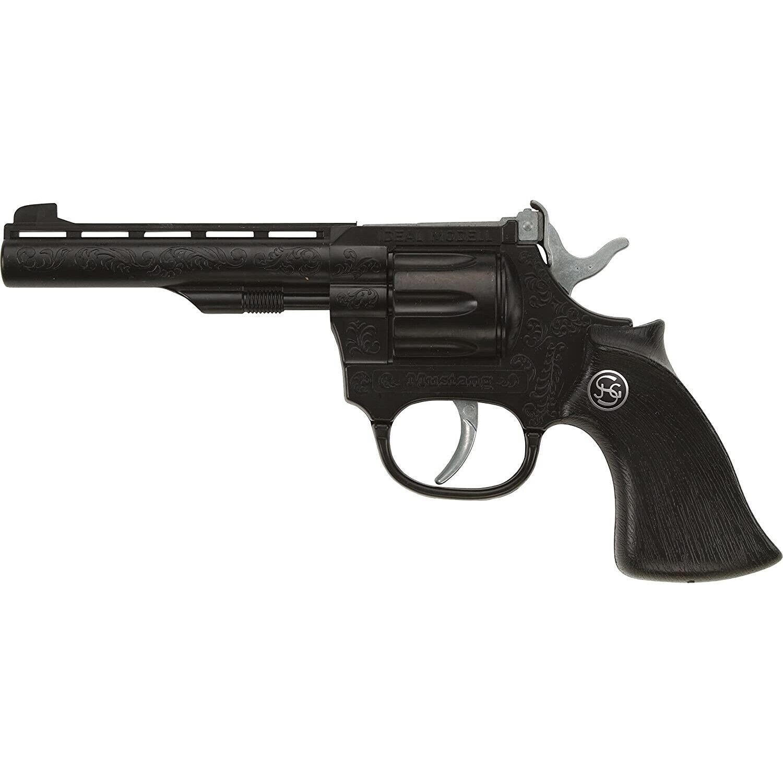 Schrödel 100-Schuss Pistole Mustang 21cm schwarz Spielzeug Waffe Kinder Revolver