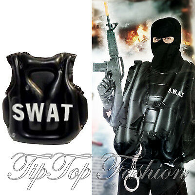 New Inflatable SWAT Vest Bulletproof Stag Party Fun Adults Police Cop FBI Armed