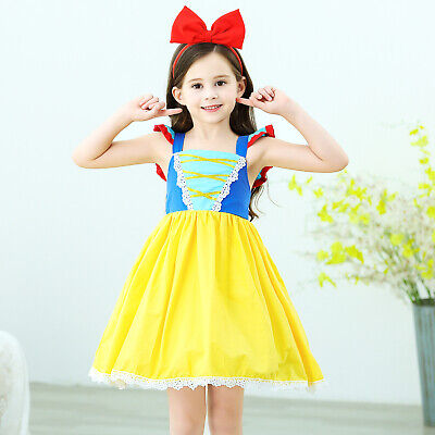 Girls Baby Snow White Princess Costume Halloween Party Dress Up + Headband ZG9 - Infant Girl Halloween Costumes Princess