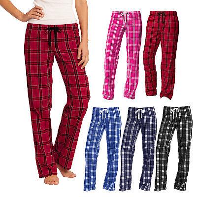 Plaid Pajamas (Women Flannel Plaid Pajamas PJ Casual Sleep Lounge Pants 100%)