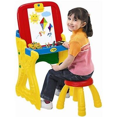 2-in-1 Art Studio Easel Play 'N Fold Kids Craft Toys Children Playing Area Games (Childrens Easel)
