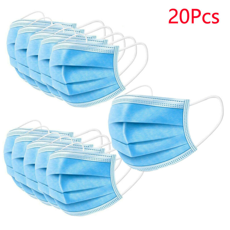 20Pcs Protective Face Mouth Mask Melt-blown Nonwoven Fabric