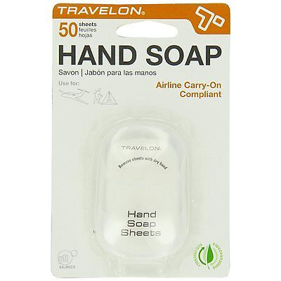 Travelon Hand Soap Travel Hygiene Sheets - 50ct