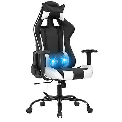 Gaming Chair Office Chair Racing Chair Massage Pu Leather Rolling Swivel Task