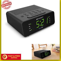 Emerson SmartSet Digital Alarm Clock Radio w/AM/FM,0.9 LED Large Display,Snooze