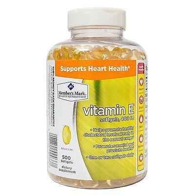 Members Mark Vitamin E 400 Iu Dietary Supplement 500 Ct Supports Heart Health