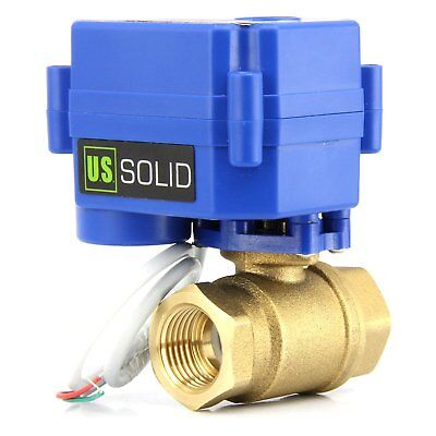 Motorized Ball Valve- 34 Brass Electrical Ball Valve 2 Wire Reverse Polarity