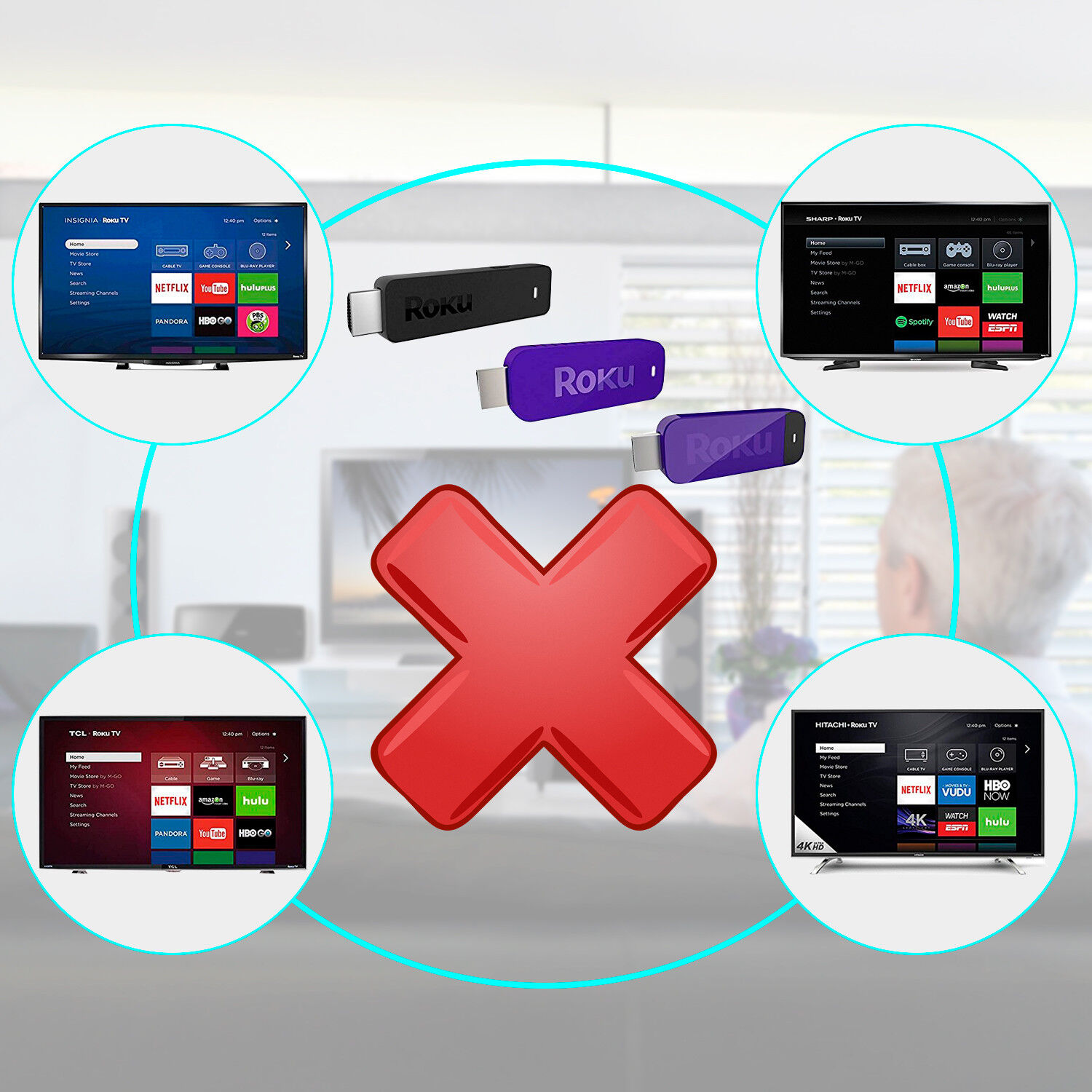 Купить Unbranded/Generic - Replaced Remote Control for ROKU 1 2 3 4 LT HD XD XS Player with 4 Shortcut Keys