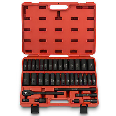 - Drive Deep Impact Socket Master Set | 1/2 Inch 35 PC SAE & Metric CR-V Steel