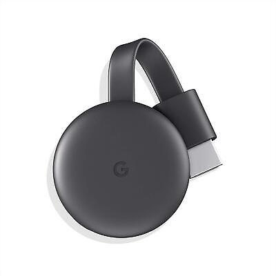 GOOGLE CHROMECAST 3RD GEN FULL HD WiFi MULTIMEDIA STREAMER MEDIA 1080p HDR NEW