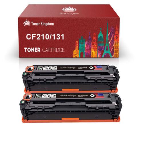 2 pk cf210a 131a black toner cartridges