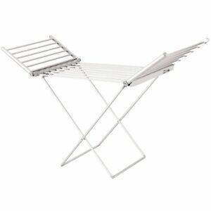 NEW! Electric Extendable Heated Folding Clothes Horse Airer Dryer