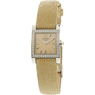 Longines Men's L51660002 Silver Leather Swiss Quartz Dress Watch