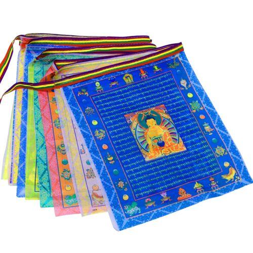 Tibetan Buddhist Prayer Flags 20Pcs Outdoor Meditation Traditional 11x14 inches