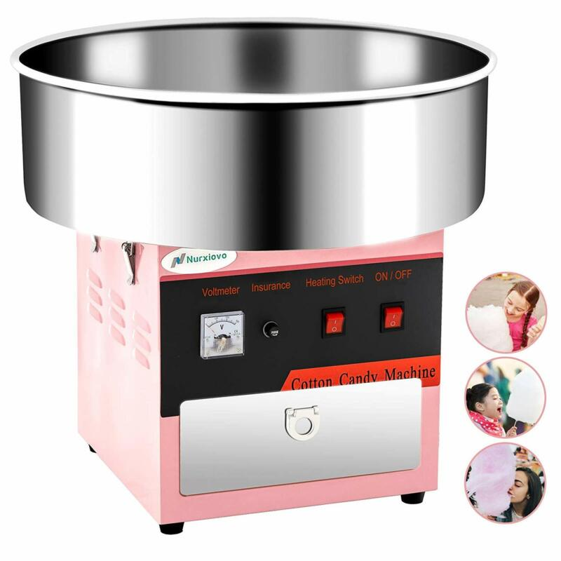 """21"""" Pink Electric Commercial Cotton Candy Machine Sugar Maker Party Carnival"""