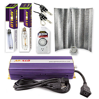 - Apollo Horticulture 400 600 1000w MH HPS Grow Light Kit System for Plant Growing