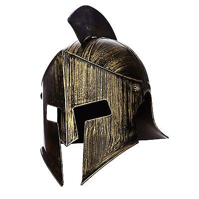 (Griechischer Römischer Helm Gladiator Spartan Helmet Fasching Carneval One size )