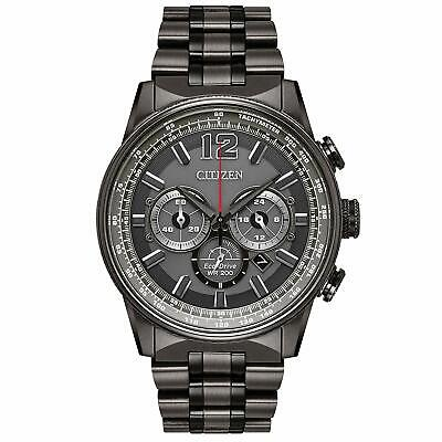 Citizen Eco-Drive Men's Nighthawk Chronograph Gray 43mm Watch CA4377-53H