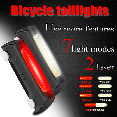 LED Rechargeable Bicycle Front Headlight Rear Tail Cycling S
