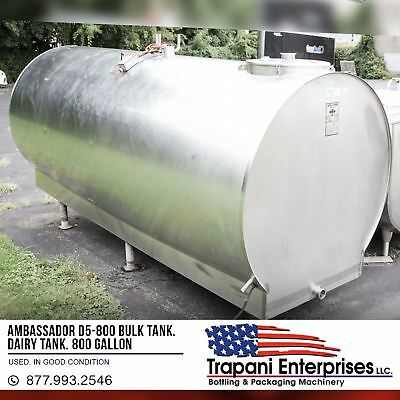 Ambassador D5-800 Bulk Tank Stainless Tank Silo Tank Horizontal Tank