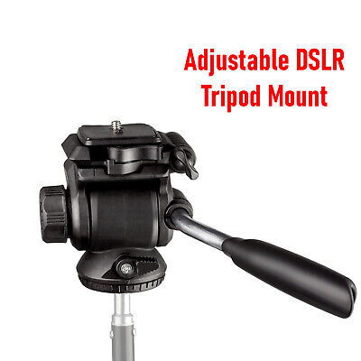 Camera video Adjustable Tripod pan and tilt head, 360 degree swivel