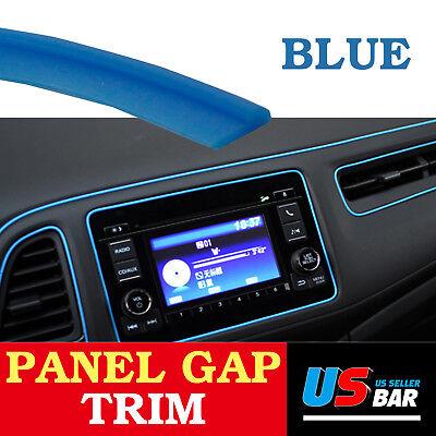 10Feet Gap Trim Line Blue Molding Garnish Strip For Car Accessory Interior Edge