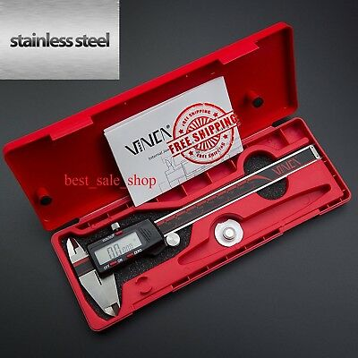 Digital Caliper Stainless Steel Electronic Lcd Micrometer Measuring 0-6150mm