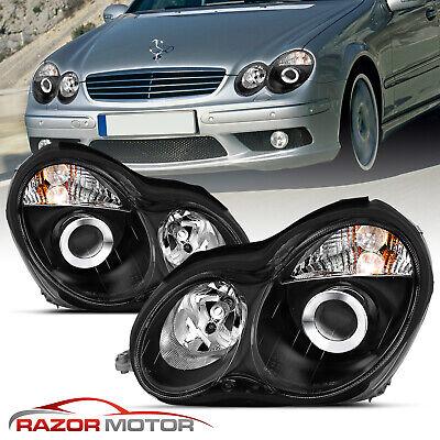 2001-2007 Black Projector Headlight For Mercedes-Benz W203 C-Class Sedan/Wagon