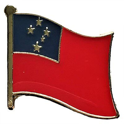 (Wholesale Pack of 12 Samoa Country Flag Bike Hat Cap lapel Pin )