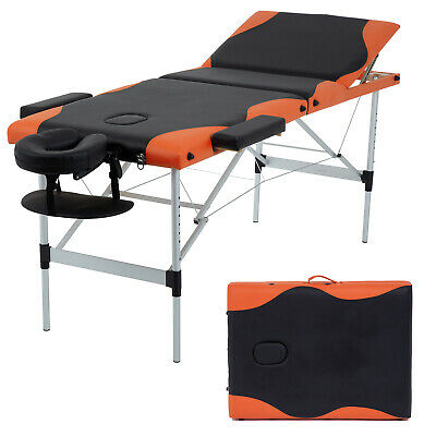 "Massage Table Heigh Adjustable 3 Fold W/Face Cradle 84"" Portable Aluminium Bed Health & Beauty"