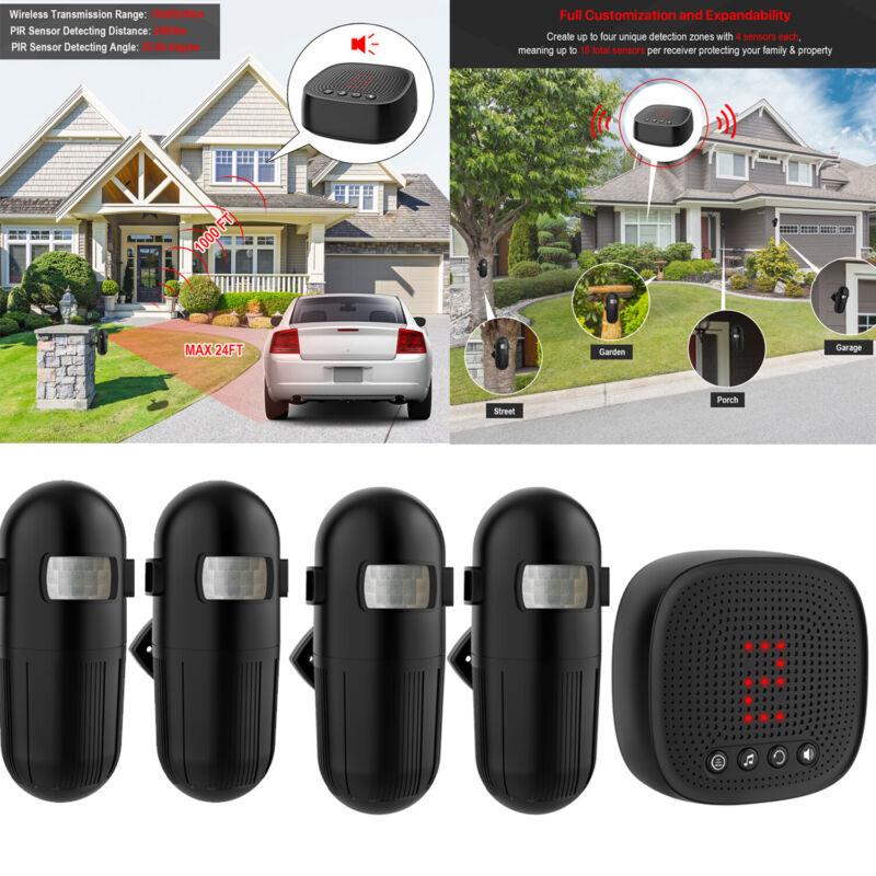 2020 New 1000ft Long Range Wireless Driveway Alarm Alert Motion Sensor Detector