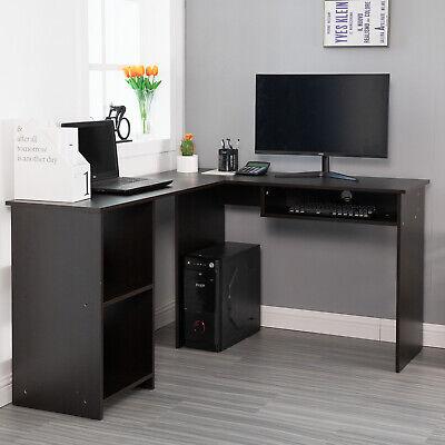 55″ L Shaped Desk,Corner Computer Desk Corner Gaming Desk for Home Office, Black Furniture