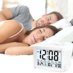 Digital Talking Alarm Clock with 4.5'' Display, Smart Backlight