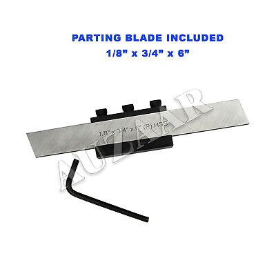 Lathe Clamp Type Parting Cut Off Tool Holder 12mm Shank With Hss Blade 34