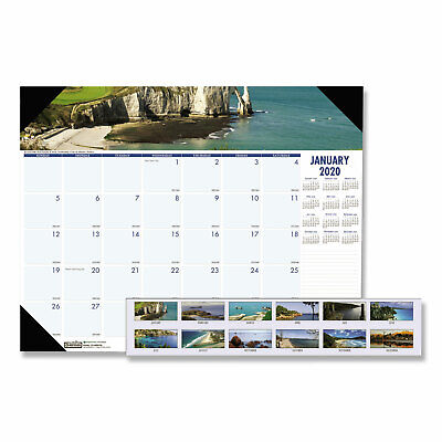 House Of Doolittle Recycled Coastlines Photographic Monthly Desk Pad Calendar 18 Doolittle Monthly Desk Pad