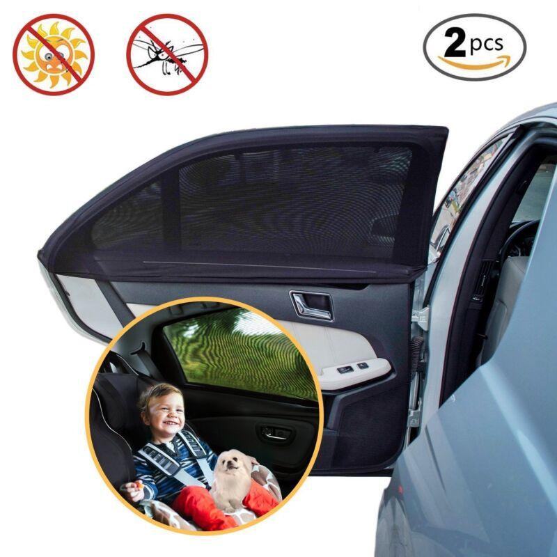 Neu Sonnenschutz Auto Baby (2 Stück) Sonnenblende Auto mit UV Schutz Für Kinder
