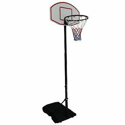 NEW! Free Standing Pro Spec Adjustable Basketball Net Post Stand - Black 2.1m