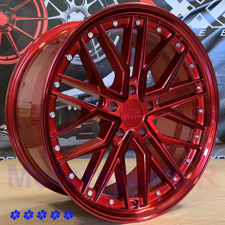 XXR 571 18 X8.5 +35 Candy Red Rims Wheels 5x114.3 20 Acura