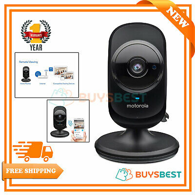 Motorola Connect Indoor HD Wi-Fi Smart Home Monitoring Camera Black FOCUS68